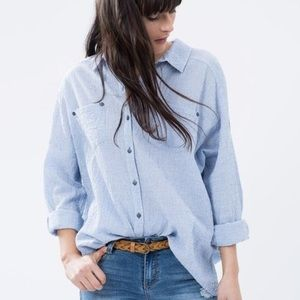 Free People Love Her Madly Puckered Top